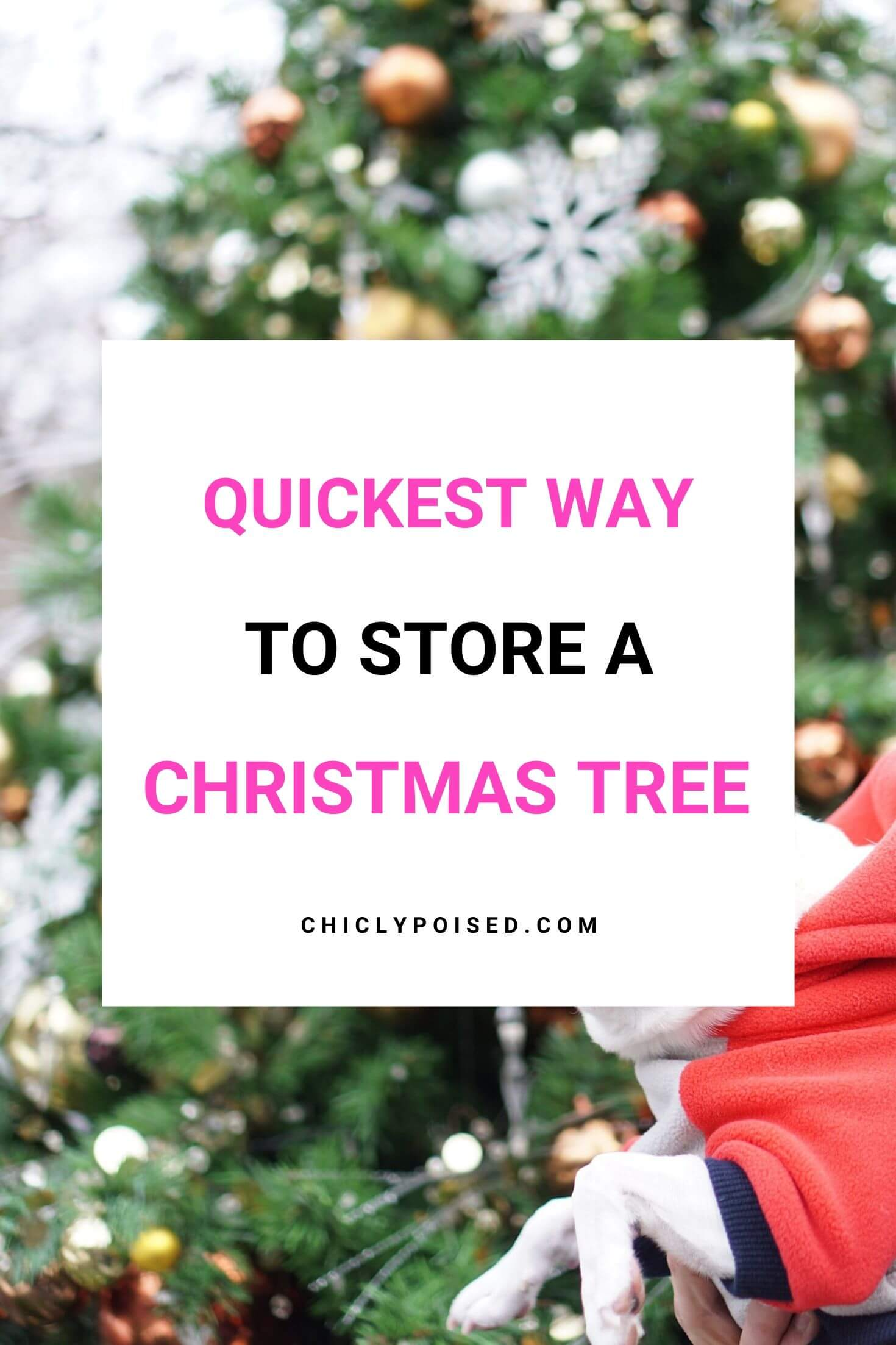 Quickest Way To Store An Artificial Christmas Tree 2 of 2
