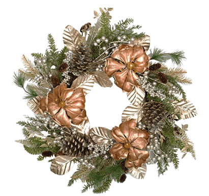 Stunning Golden Christmas Wreaths Ideas For The Holidays 4 of 10