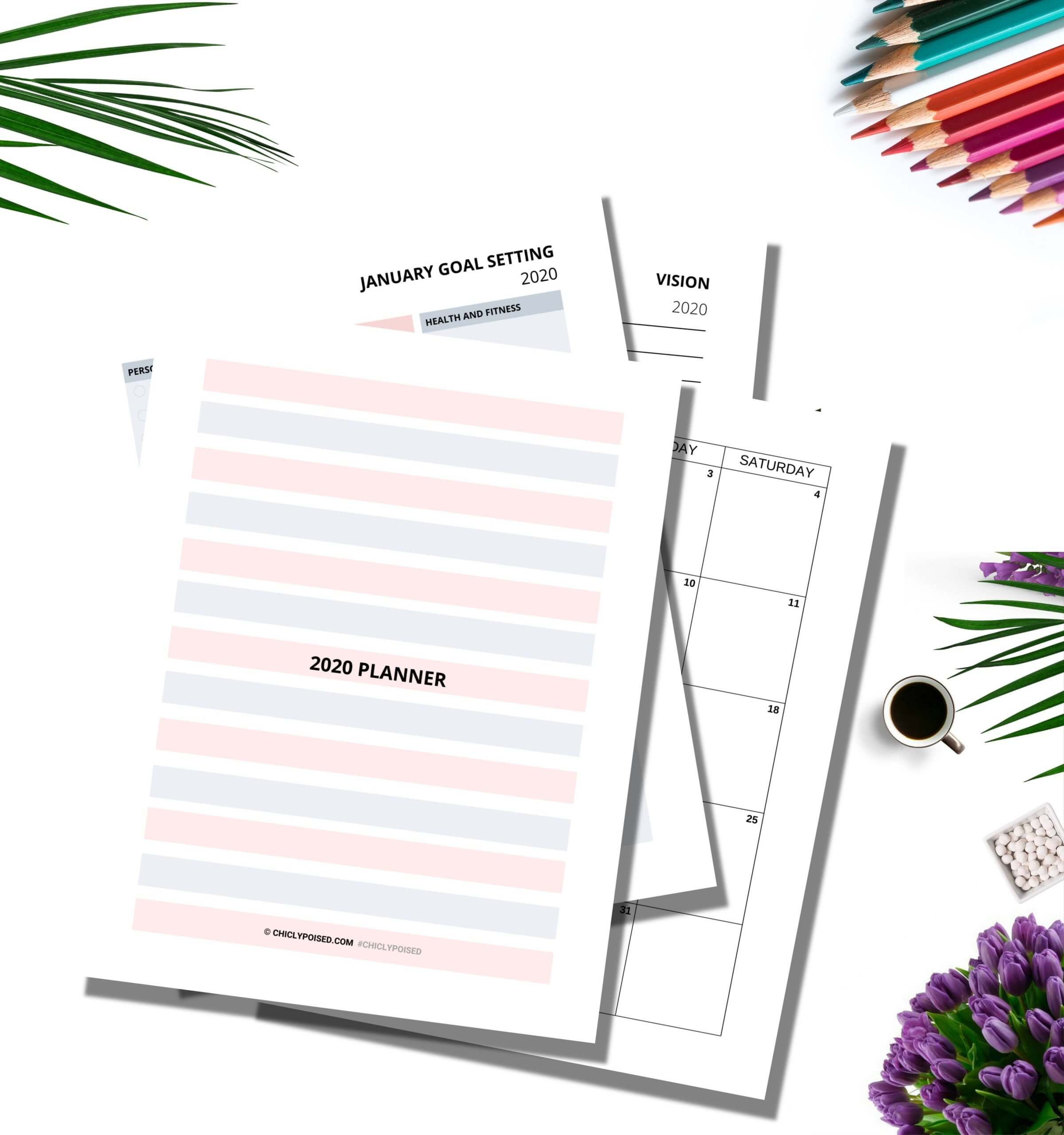 Download 2020 Printable Planner from Resource Library