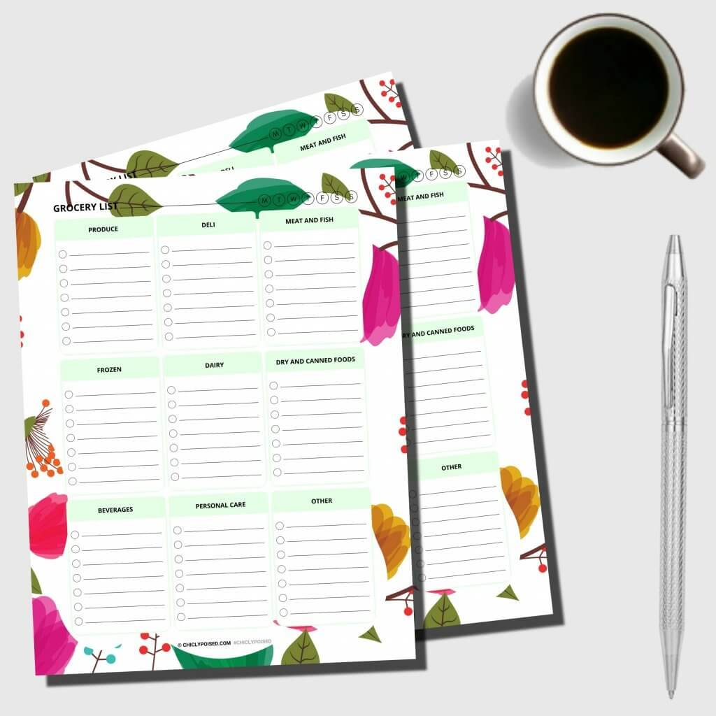 Grocery Shopping List Printable 9 of 10