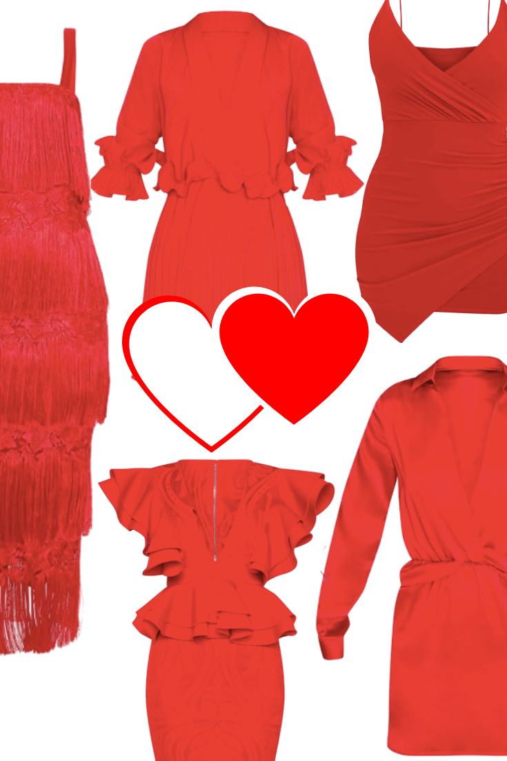 Red Hot Dress for Valentine's Day Night