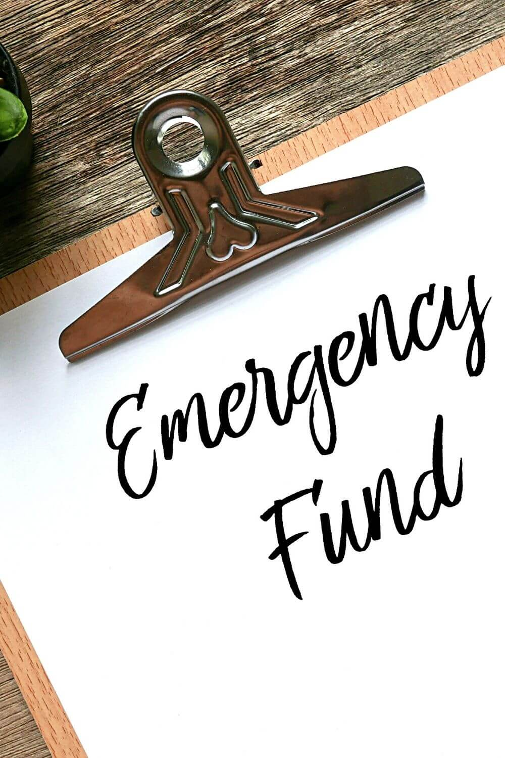 Build An Emergency Fund 1 of 3