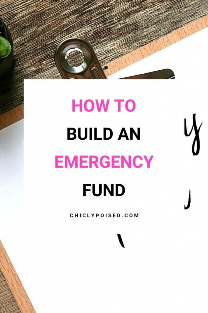 Build An Emergency Fund 2 of 3