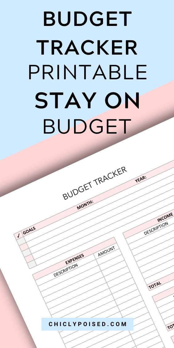 Monthly Budget Tracker Printable 4 of 4