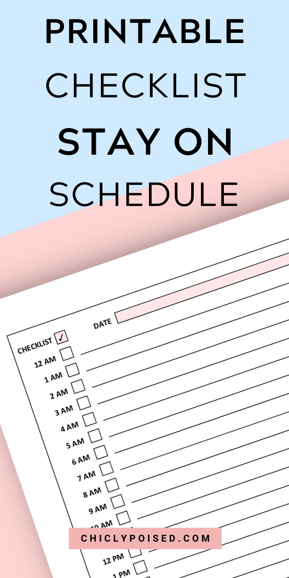 Printable Checklist Never Forget Appointments Again 1 of 4