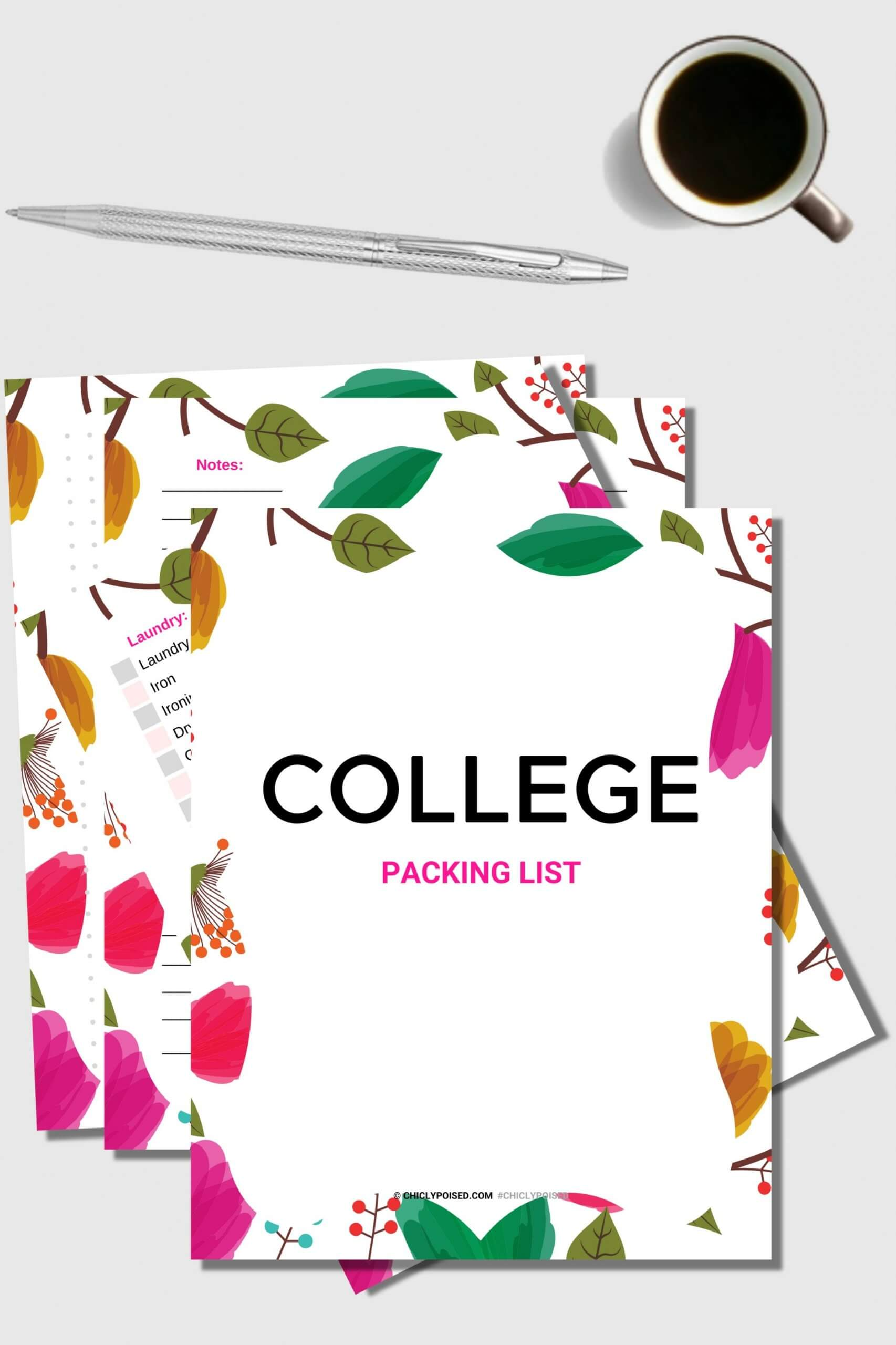 College Packing List Printable 1 of 2