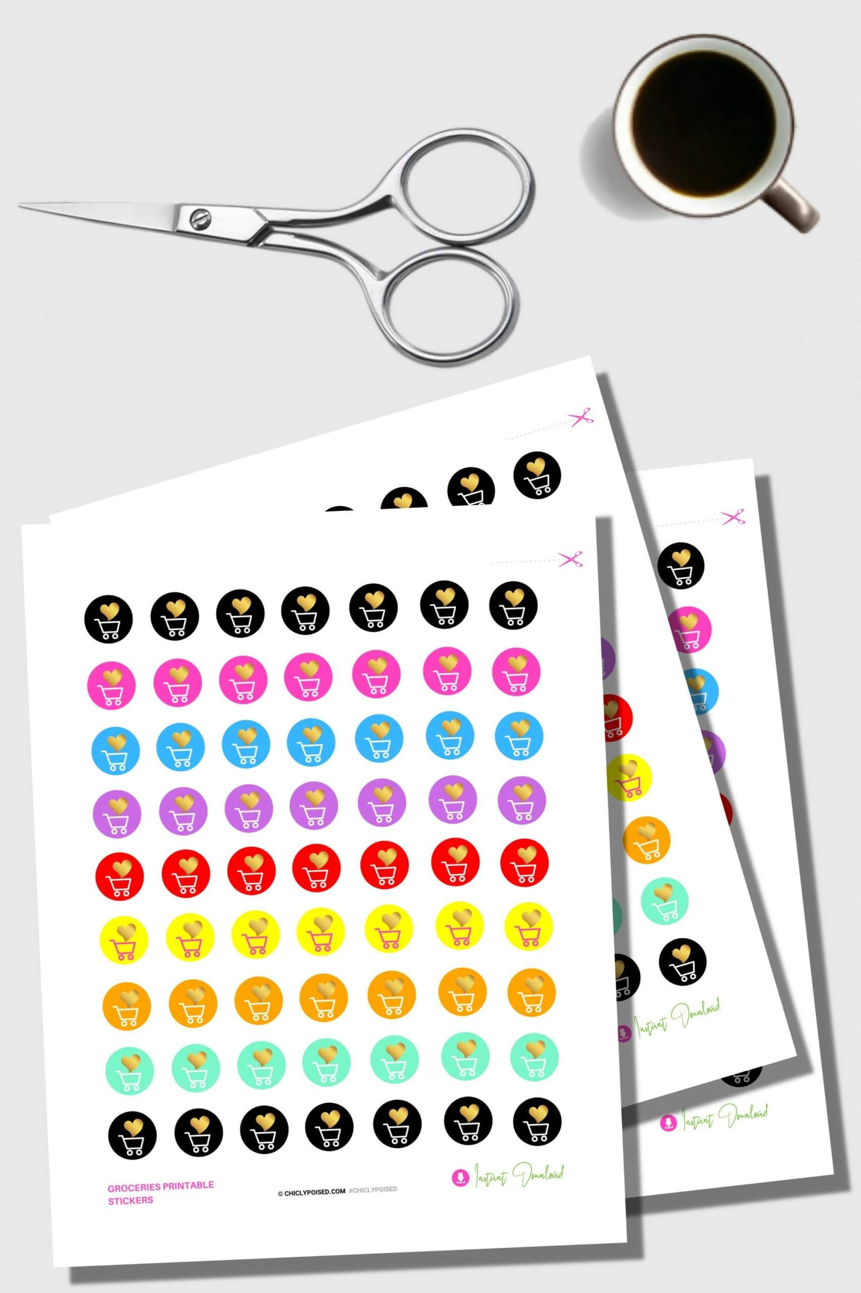Functional Groceries Planner Stickers To Do Coleection 1 of 5