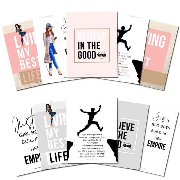 Positive Affirmations Printables 1 of 5