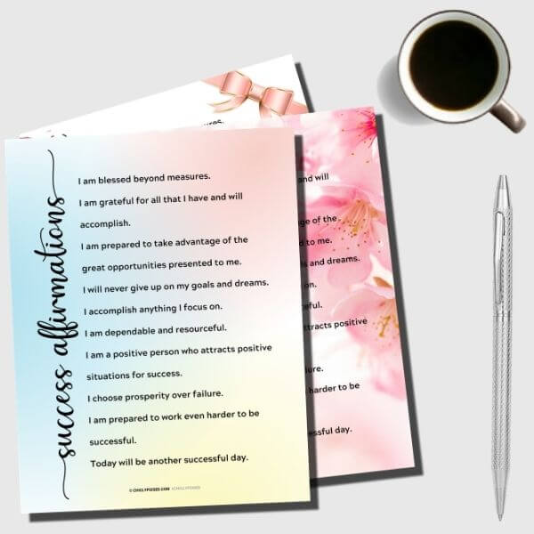 Success Affirmations Printable Bundle 3 of 10