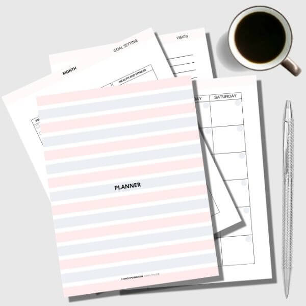 Undated Minimalist Printable Planner 1 of 10