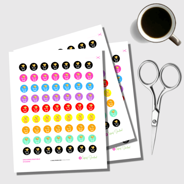 Groceries Planner Stickers 5 of 7